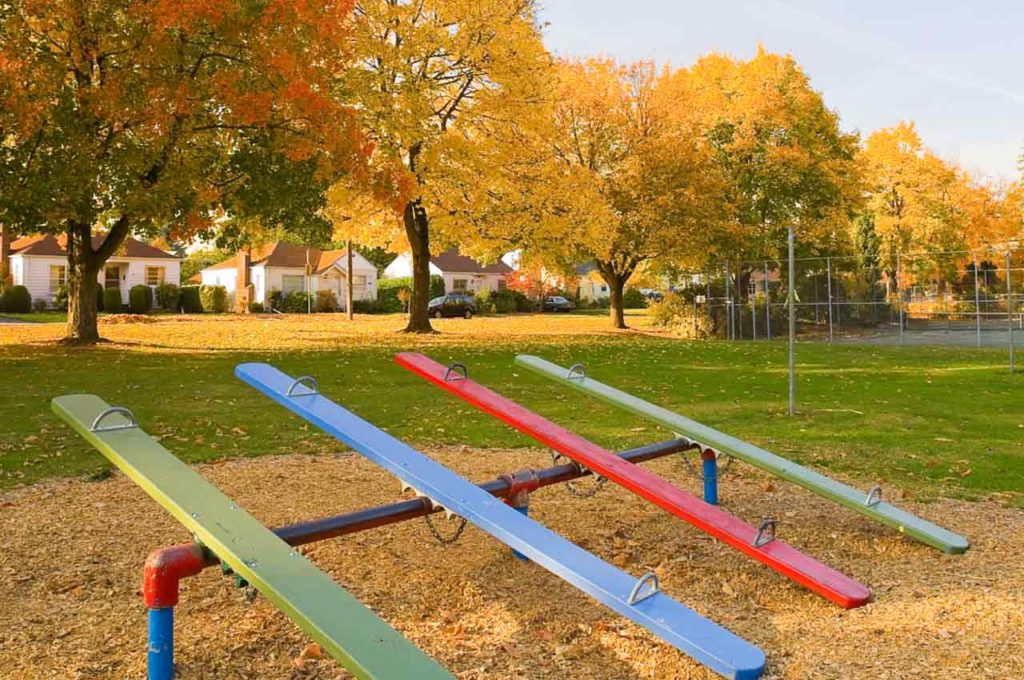 Playground in the Fall
